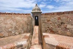 Guerite på forten El Morro Royaltyfri Bild