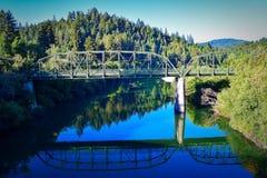 Guerneville walking bridge Stock Photos