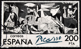 guernica Pablo Picasso skyddsremsa Royaltyfri Bild