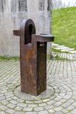 Sculpture by Eduardo Chillida, work Gure aitaren etxea La casa de mustro padre, Gernika Royalty Free Stock Photography