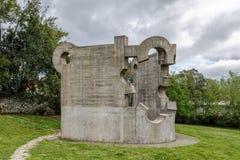 Sculpture by Eduardo Chillida, work Gure aitaren etxea La casa de mustro padre, Gernika Royalty Free Stock Photos