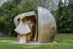 Sculpture by Henry Moore Stock Photography