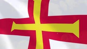 Guernsey ρεαλιστική ζωτικότητα σημαιών απεικόνιση αποθεμάτων