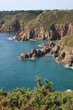 Guernsey Coastal rocks Royalty Free Stock Image