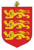 Guernsey coat of arms . Guernsey coat of arms, seal, national emblem, isolated on white background. Vector Coat of arms of Guernsey, Original and simple Stock Images