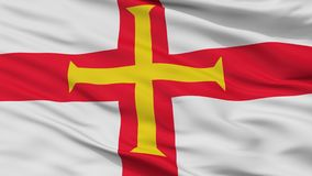 Guernsey Flag Closeup View royalty free illustration