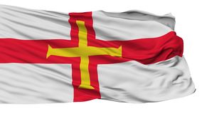 Guernsey Flag, Isolated On White vector illustration