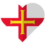 Guernsey flat heart flag Stock Images