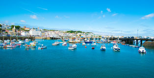 Guernsey harbour marina. Taken in the summer Royalty Free Stock Photo