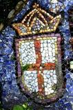Guernsey - het Kleine Kapel decoratieve detail Royalty-vrije Stock Foto