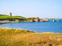 Guernsey island. Sea coast. Landscape on the Guernsey island, Channel Islands Royalty Free Stock Images