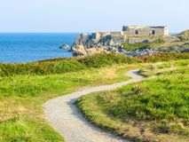 Guernsey island. Sea coast. Landscape on the Guernsey island, Channel Islands Royalty Free Stock Photography