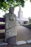 Guernsey La Gran'Mere Du Chimquiere statue-menhir Royalty Free Stock Photography