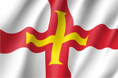 Guernsey national flag vector illustration Stock Photos