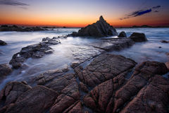Guernsey-Sonnenuntergang Stockfoto