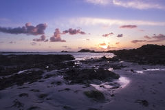 Guernsey sunset Stock Photo