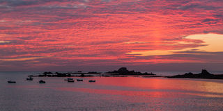 Guernsey sunset Royalty Free Stock Photos