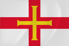 Guernsey waving flag Stock Images