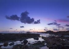 Guernsey-zonsondergang stock foto's