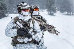 Guerra ártica de las montañas del invierno Imagen de archivo libre de regalías