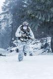 Guerra ártica de las montañas del invierno Foto de archivo libre de regalías