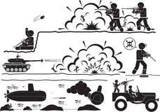 Guerra ilustración del vector