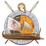 Guerra antiga ilustração stock