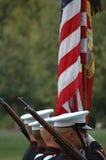 Guerra Arlington memorável de Iwo Jima - cerimónia do por do sol Imagens de Stock