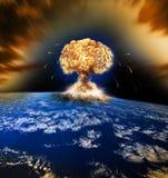 Guerra atómica nuclear imagenes de archivo