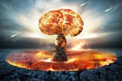 Guerra atomica nucleare Fotografia Stock Libera da Diritti