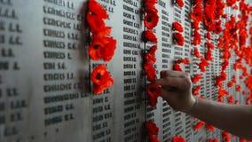 Guerra australiana Memorial-1 video estoque