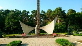 Guerra Cementary in Siekierki, Polonia Immagine Stock Libera da Diritti
