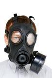 Guerra chimica - uomo con gasmask Fotografia Stock