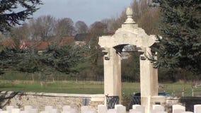Guerra 14-18. Cimitero cinese di Nolette, Noyelles-sur-MER video d archivio
