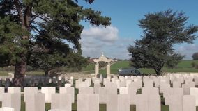 Guerra 14-18. Cimitero cinese di Nolette, Noyelles-sur-MER archivi video