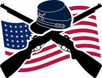 Guerra civil americana stock de ilustración
