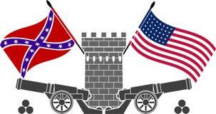 Guerra civil americana ilustração do vetor