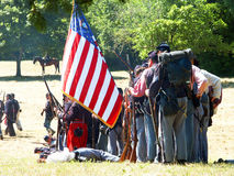 Guerra civil americana re-enactors. Foto de Stock Royalty Free