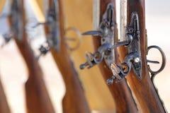 Guerra civil de los mosquetes foto de archivo libre de regalías