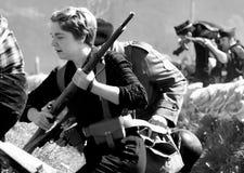 Guerra civil espanhola 10 de Elgeta 1937 da batalha da recreação Imagens de Stock