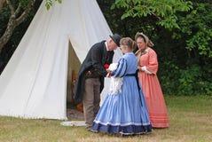 Guerra civil re-enactors Fotos de Stock
