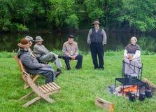 Guerra civil Reenactors Foto de archivo libre de regalías