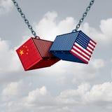 Guerra comercial de China los E.E.U.U. stock de ilustración
