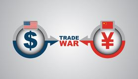 Guerra comercial de Nosotros-China - ejemplo económico libre illustration