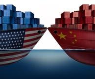 Guerra comercial do Estados Unidos de China ilustração royalty free