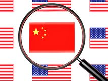 Guerra commerciale della Noi-Cina immagine stock libera da diritti