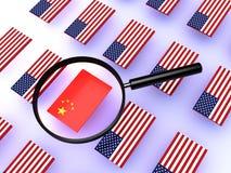 Guerra commerciale della Noi-Cina fotografia stock