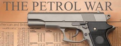 A guerra da gasolina Foto de Stock