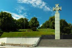 Guerra da independência Victory Column no quadrado da liberdade em Tallinn, Estônia Fotos de Stock