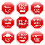 Guerra da parada de nove sinais ilustração royalty free